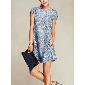 J. McLaughlin Silk Paisley Swing Dress